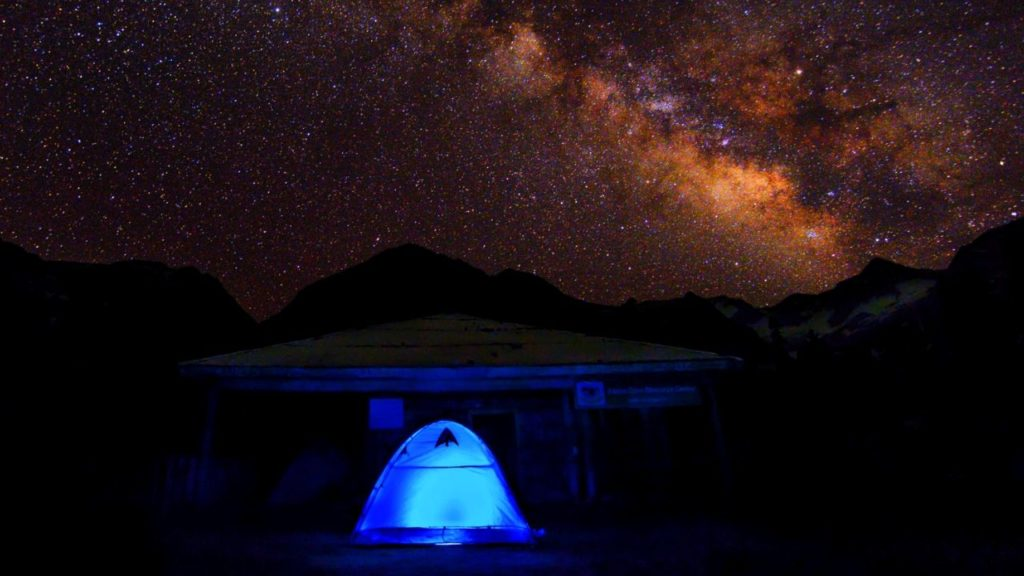 Camping under the blanket of stars