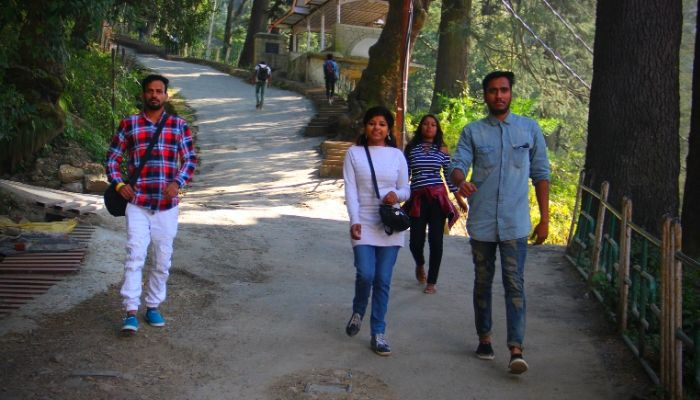 Back to Mall Road From Jakhu Hill